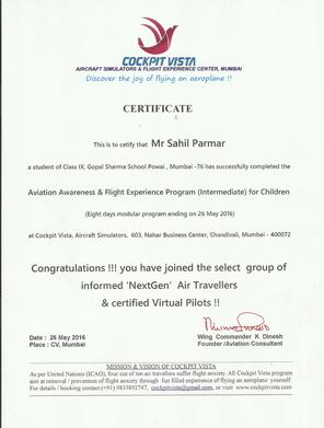 ​Flying Basics... Get up close!!! .... get up-close with every aspect of flying an air plane.... you can spend quality time on controls and command your flight .... experience the real world of flying ........ and pride the certificate that you earn after completion of the sessions